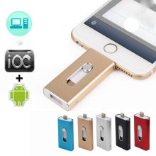 Richwell USB Flash Drive For iPhone X/8/7/7 Plus/6/6s/5/SE ipad Metal Pendrive HD Memory Stick 8G 16G 32G 64G